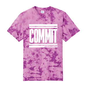 COMMIT tee - Purple Tie Dye