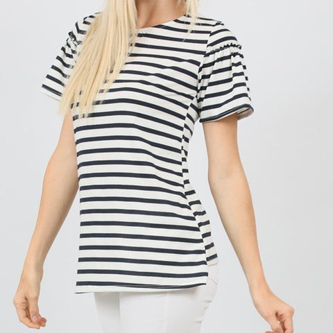 Navy Striped Chloe Tee