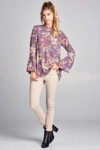Purple Floral Alyssa Top