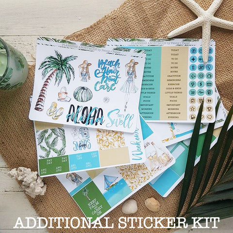 Planners Anonymous Seaside July Kit  Additional Sticker Kit