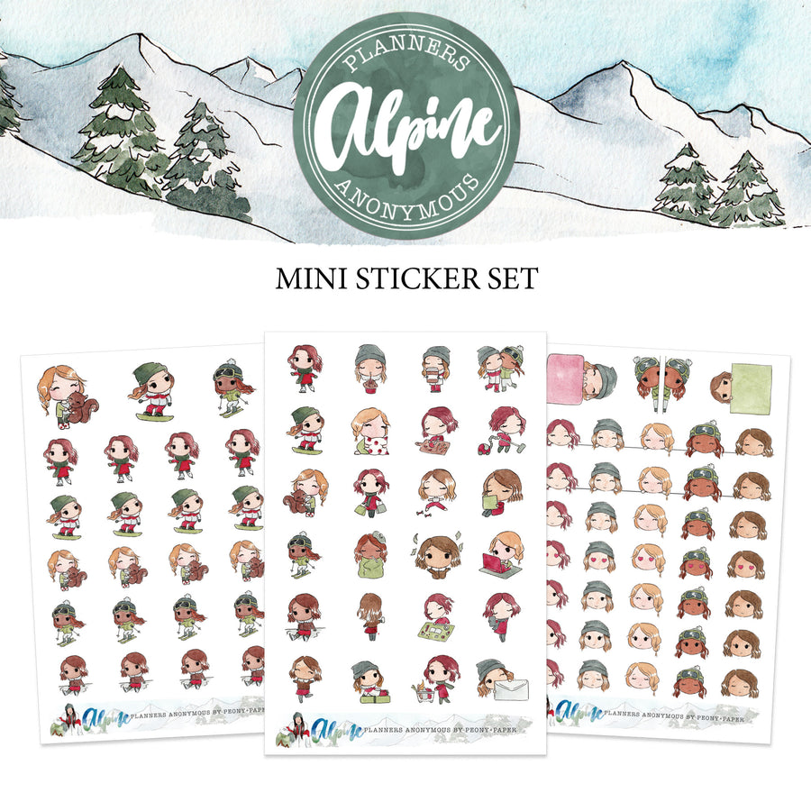Alpine Mini Sticker Set - Planner Sticker Sheet