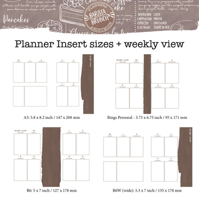 Barista Brunch Printable Inserts
