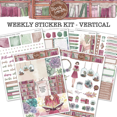 Book Lover - Weekly Sticker Kit