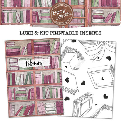 Book Lover Printable Inserts