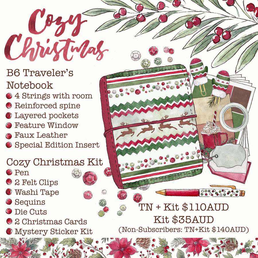 PREORDER B6 Traveler's Notebook & Cozy Christmas Kit </br>(Non-Subscribers)