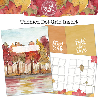 Forest Falls Inserts - Themed Dot Grid Printable