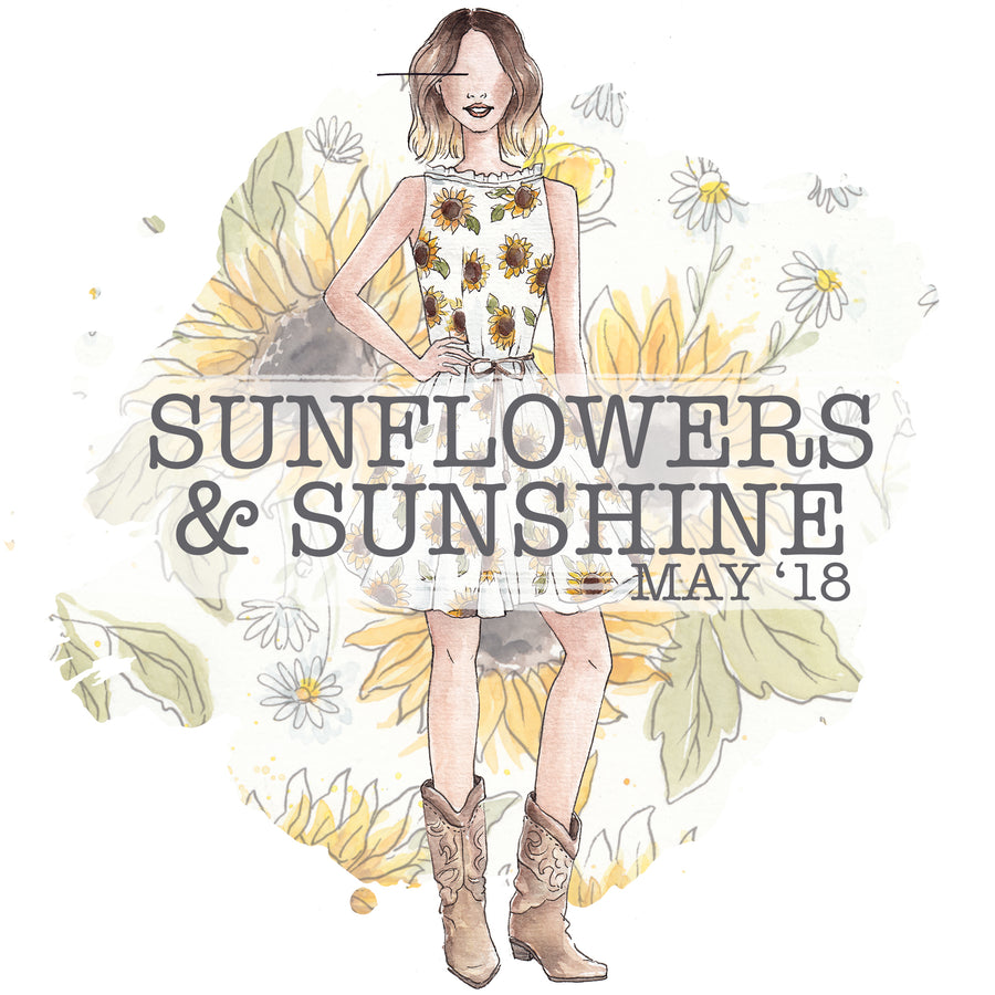Sunflowers and Sunshine - Past Kit </br> (May 2018)