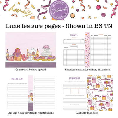 Celebrate - Printable Inserts - Luxe Weekly