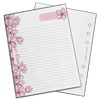 Sakura Notepad (B6 Rings)