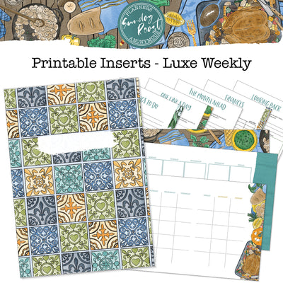 Sunday Roast Printable Luxe Weekly Inserts