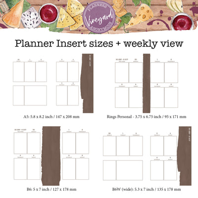 Vineyard Printable Inserts