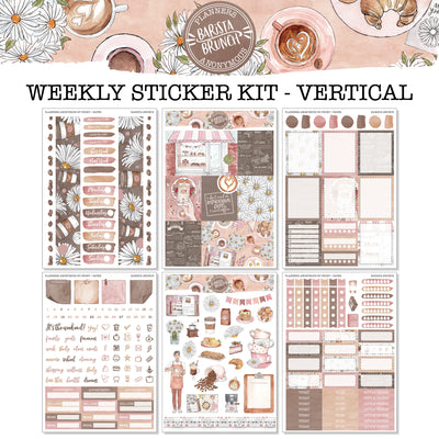 Barista Brunch - Weekly Sticker Kit