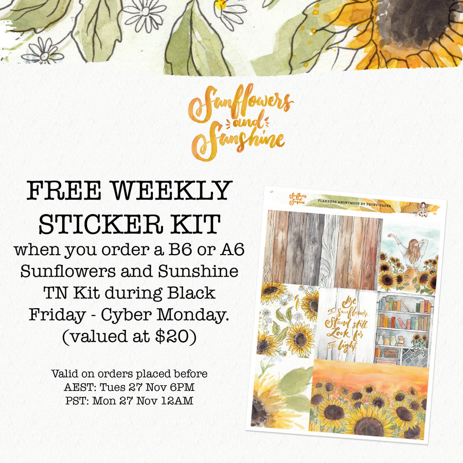 PREORDER Sunflowers and Sunshine TN Kit (Non-Subscribers)