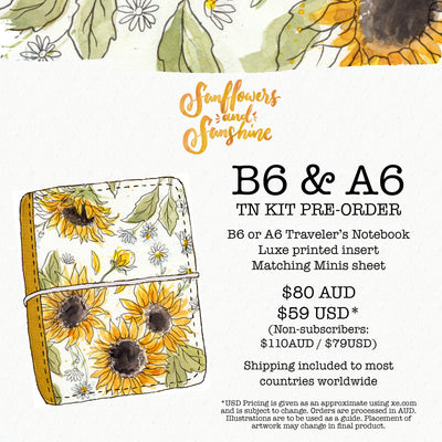Sunflowers and Sunshine Traveler's Notebook