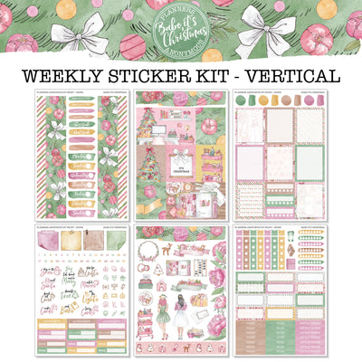 Babe It's Christmas - Weekly Sticker Kit