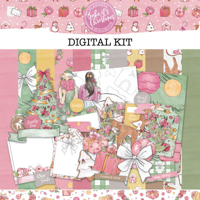 Babe It's Christmas Creative Digital Kit