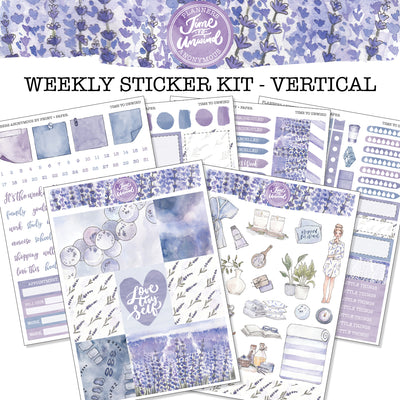 Time to Unwind - Weekly Sticker Kit
