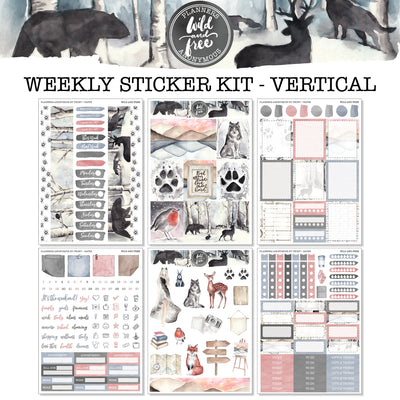 Wild and Free - Weekly Sticker Kit