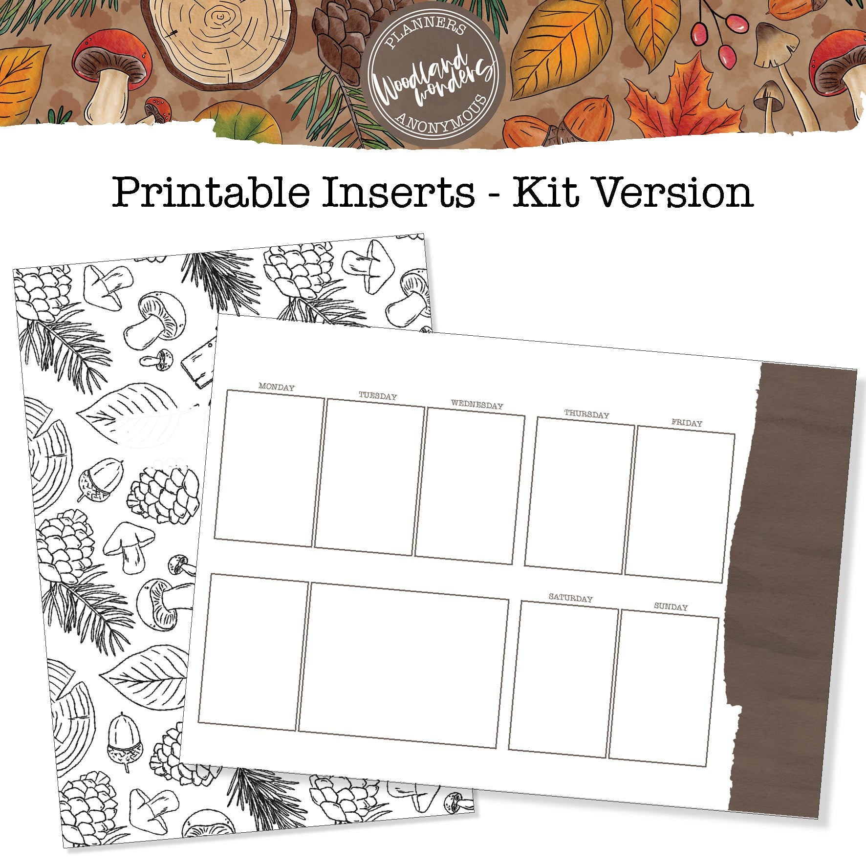 Woodland Wonders - Printable Inserts - Kit