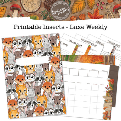 Woodland Wonders Printable Luxe Weekly Inserts