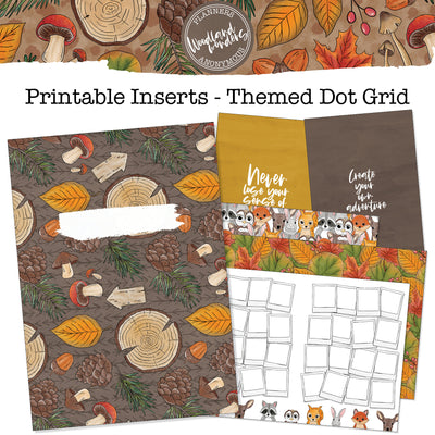 Woodland Wonders - Printable Inserts - Themed Dot Grid