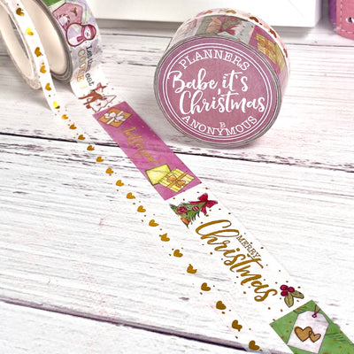 Babe It's Christmas Washi Duo - Seasons Greetings