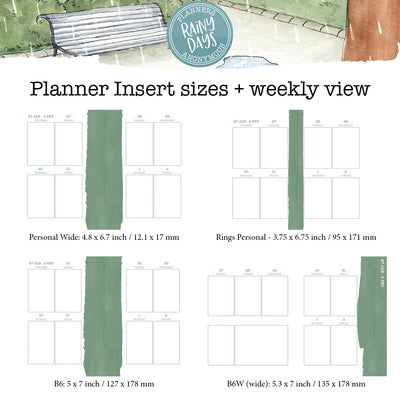 Rainy Days Printable Inserts