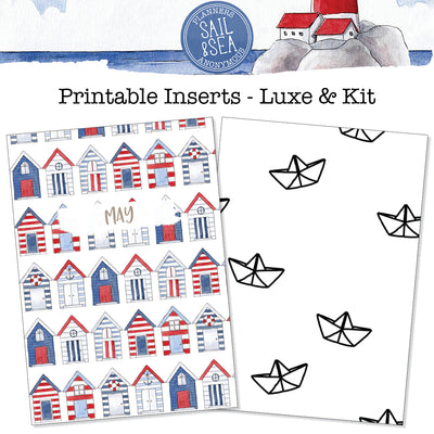 Sail and Sea Printable Inserts