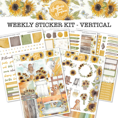 Sunflowers and Sunshine - Weekly Sticker Kit
