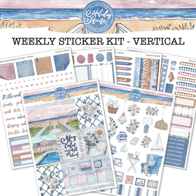 Holiday Home - Weekly Sticker Kit