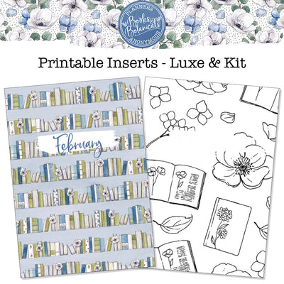 Books and Botanicals Printable Inserts
