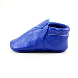 "RTS Maliblue Lokicks With Same Color Leather Soles - Size 3 (12-18M)(5"")"
