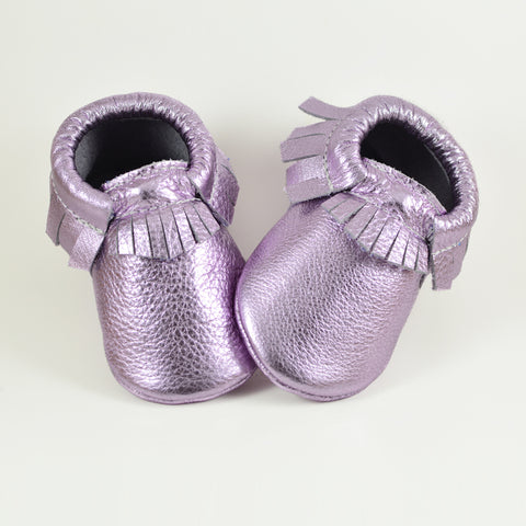 RTS Metal Lilac Moccasins