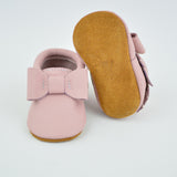 Blush Pink Bow Moccs