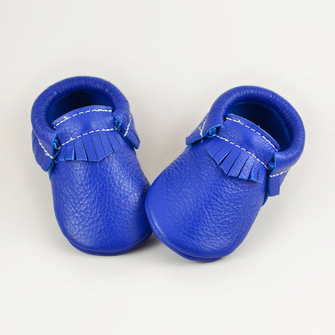 RTS Maliblue Moccasins With Same Color Leather Soles