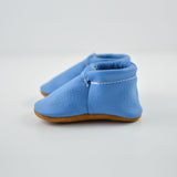 Cool Blue Fringeless Moccs