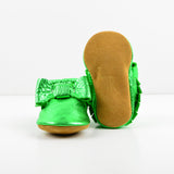Christmas Green Bow Moccs