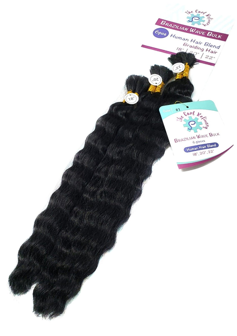 Human Hair Blend Bulk 6 pcs - The Curl Refinery
