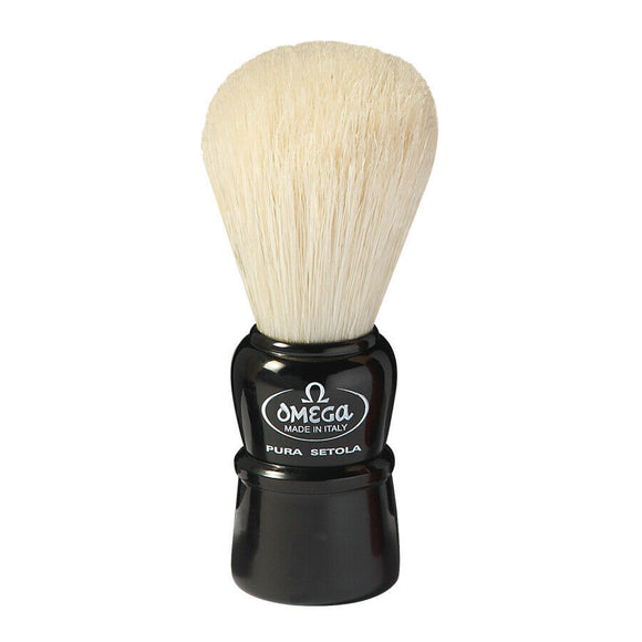Omega - Boar Bristle Shaving Brush, Imported from Italy 10086-B