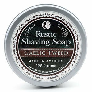 Wet Shaving Products Rustic Shaving Soap - Gaelic Tweed -