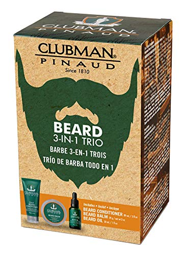 Clubman Beard 3 Piece Kit (Beard Conditioner, Balm & Oil)