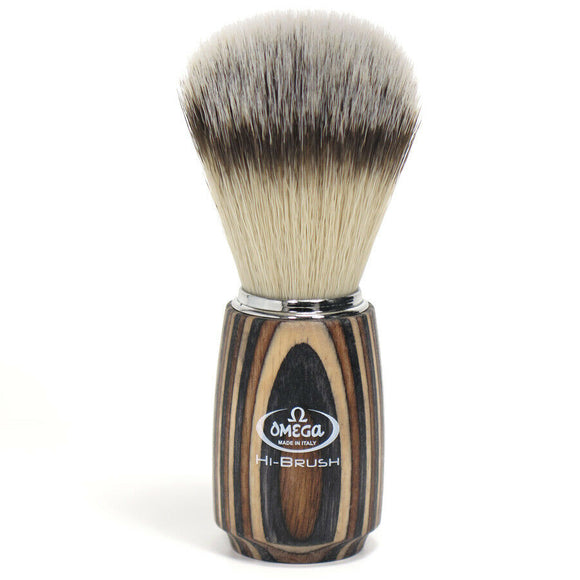 Omega Premium Hi-BRUSH Synthetic Fiber Shave Brush 0146751