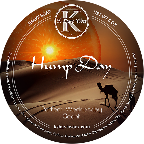 K Shave Worx - Hump Day  - Shave Soap, 6 oz