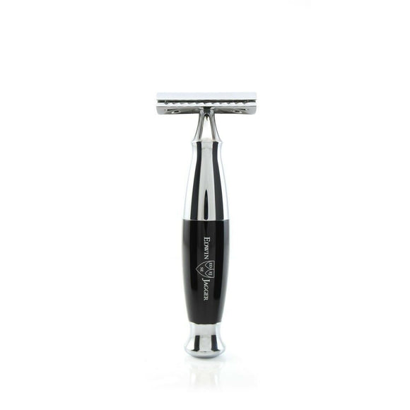 Edwin Jagger Black & Chrome Double Edge Safety Razor