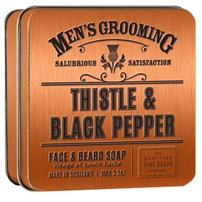 Scottish Fine Soap Company  Face & Beard Soap Thistle & Black Pepper 100g