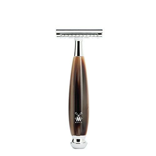 Muhle Safety Razor – VIVO R332 SR Closed Comb – Horn Brown Resin