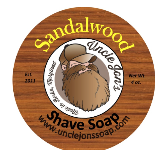 Uncle Jon's Natural Shave Soap - Sandalwood, 4oz Tub