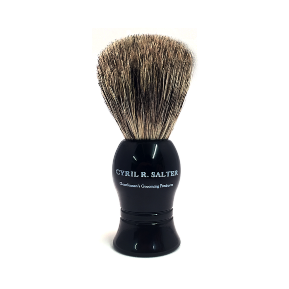 Cyril Salter Pure Dark Badger Hair Shaving Brush