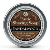 Wet Shaving Products Rustic Shaving Soap - Sandalwood -