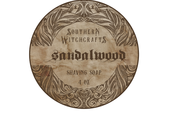 Southern Witchcrafts Shave Soap - Sandalwood - Vegan